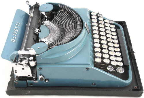Olivetti Mp1 Blue Typewriter