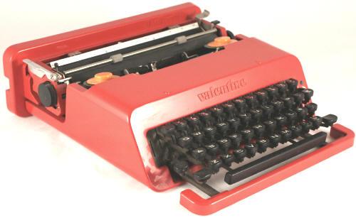 olivetti valentine typewriter. Black Bedroom Furniture Sets. Home Design Ideas